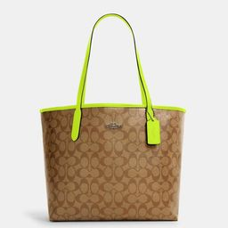 City Tote in Signature Canvas | Coach Outlet