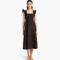 The Ellie Nap Dress - Sheer Black Swiss Dot | Hill House Home