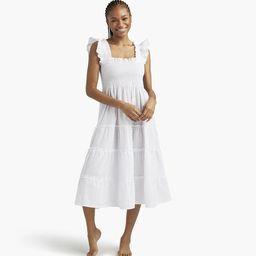 The Ellie Nap Dress - White Swiss Dot | Hill House Home