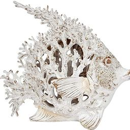 Ocean Decor White Coral Reef Anglefish Beach Home Decor Coral Look Polystone Tabletop Collection | Amazon (US)
