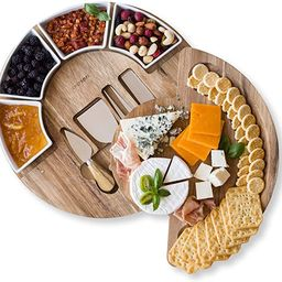 Cheese Board Set - Charcuterie Board Set and Cheese Serving Platter. US Patented 13 inch Meat/Che... | Amazon (US)