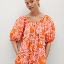 Printed cotton dress | MANGO (US)