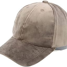 Womens Winter Classic Style Suede Baseball Cap Adjustable Fashion Hat for Women | Amazon (US)