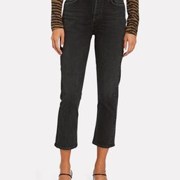 Riley High-Rise Straight Cropped Jeans | INTERMIX
