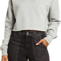 Crop V-Neck Sweatshirt | Nordstrom