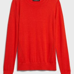 Washable Forever Crew-Neck Sweater   Banana Republic Factory