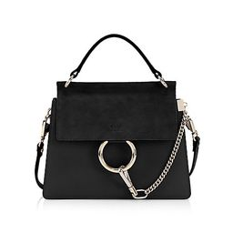 Small Faye Leather & Suede Top Handle Bag   Saks Fifth Avenue