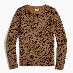 Cheetah Teddie sweater   J.Crew Factory