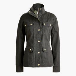 Resin-coated twill field jacket   J.Crew Factory