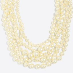 Multistrand pearl necklace   J.Crew Factory