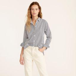 Relaxed-fit crisp cotton poplin shirt in navy stripe | J.Crew US