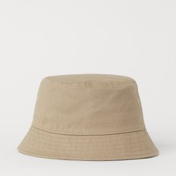 Cotton Twill Bucket Hat | H&M (US)