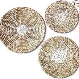 NAYOMI Hanging Woven Wall Basket Decor Set of 3. Add Character to Your Basket Wall Decor with our... | Amazon (US)