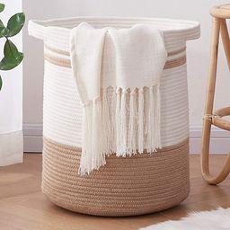 OIAHOMY Laundry Basket- Rope Basket Large Storage Basket with Handles,Modern Decorative Woven Bas... | Amazon (US)