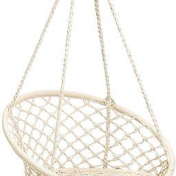 CCTRO Hammock Chair Macrame Swing,Boho Style Rattan Chair Hanging Macrame Hammock Swing Chairs fo... | Amazon (US)