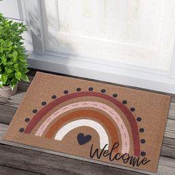Rainbow Welcome Doormat Boho Rainbow Indoor Outdoor Entryway Non-Slip Backing Rug Neutral Rainbow... | Amazon (US)