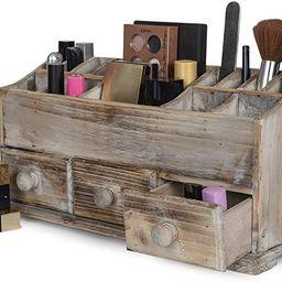 Vanity Drawer Beauty Organizer 3 Drawers - Wooden Cosmetic Storage Box for Neat & Organize Storin...   Amazon (US)