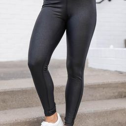 Just The Beginning Black Leggings | The Pink Lily Boutique