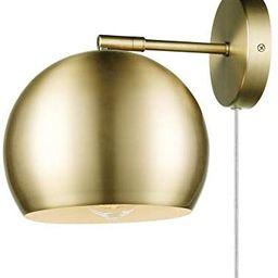 Globe Electric 51577 Novogratz x Globe Willow 1-Light Plug-in or Hardwire Wall Sconce, Matte Bras... | Amazon (US)