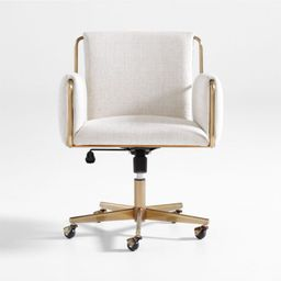 Caterina Natural Upholstered Office Chair + Reviews | Crate and Barrel | Crate & Barrel