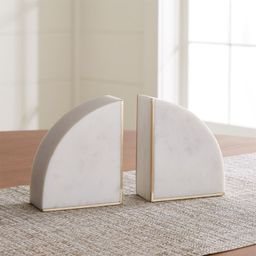 White Marble Bookends, Set of 2 + Reviews | Crate and Barrel | Crate & Barrel