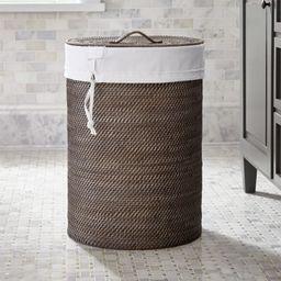 Sedona Grey Hamper with Liner + Reviews | Crate and Barrel | Crate & Barrel