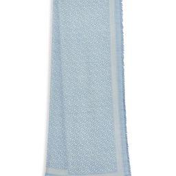 TB Monogram Wool & Silk Scarf | Saks Fifth Avenue