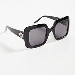 Thick Oversize Square Sunglasses | Shopbop