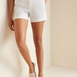 Mid-Rise Twill Everyday Shorts for Women - 5-inch inseam   Old Navy (US)