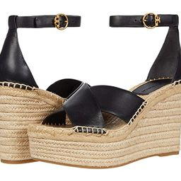 Tory Burch Selby 105 mm Wedge Espadrille (Perfect Black/Perfect Black) Women's Shoes   Zappos