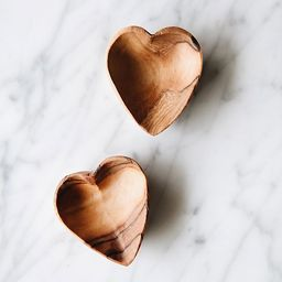Connected Goods Mini Wood Heart Dish Set | Anthropologie (US)