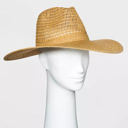 Women's Wide Brim Open Weave Straw Panama Hat - Universal Thread™   Target