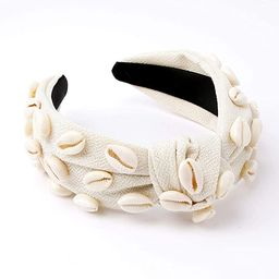 Knotted Shell Headband Natural Knot Hairband Embellished Fashion Holiday Spring Summer Hair Acces... | Amazon (US)