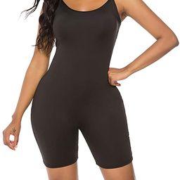 Amiliashp Women's Spaghetti Strap Tank Top Short Jumpsuit Rompers Bodysuit One Piece Catsuit   Amazon (US)