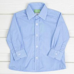 Button Down Shirt Light Blue Plaid | Smocked Auctions