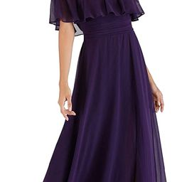 Ever-Pretty Womens Off The Shoulder Ruffle Party Dresses Side Split Beach Maxi Dress 07679   Amazon (US)