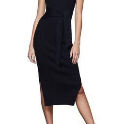 Rib Knit Tie Waist Midi Dress | Nordstrom | Nordstrom