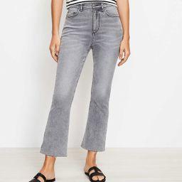 Fresh Cut High Rise Kick Crop Jeans in Light Vapor Grey   LOFT