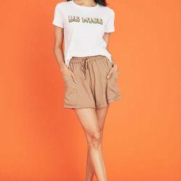 Lush Cotton Slub Shorts | Social Threads