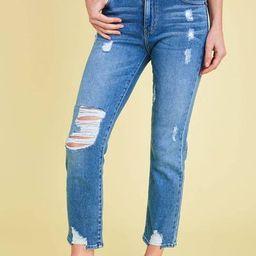 L.T.J. Siena Distressed High Rise Jeans | Social Threads