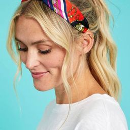 Blue Sky Scarf Printed Headband | Social Threads