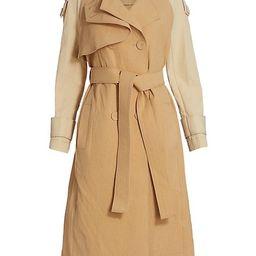 Newton Two-Tone Trench Coat | Saks Fifth Avenue