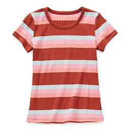 Thereabouts Rib Little & Big Girls Round Neck Short Sleeve T-Shirt   JCPenney