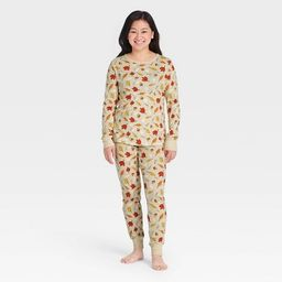 Women's Fall Leaf Print Matching Family Pajama Set - Oatmeal | Target