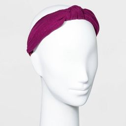 Gauze Knot Headband - Universal Thread™  Purple | Target
