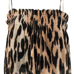 leopard-print pleated top   Farfetch (US)