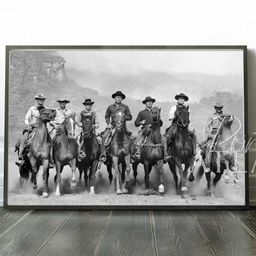 The Magnificent Seven 1960 Print   Yul Brynner, Steve McQueen, Charles Bronson   The Magnificent ...   Etsy (US)