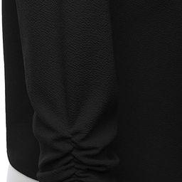 FASHIONOLIC Women's Stretch 3/4 Gathered Sleeve Open Blazer Jacket (Made in USA)   Amazon (US)
