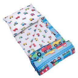 Wildkin Trains, Planes & Trucks Microfiber Sleeping Bag w/ Pillowcase | Walmart (US)