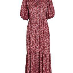 Lennox Floral Puff Sleeve Midi Dress   INTERMIX